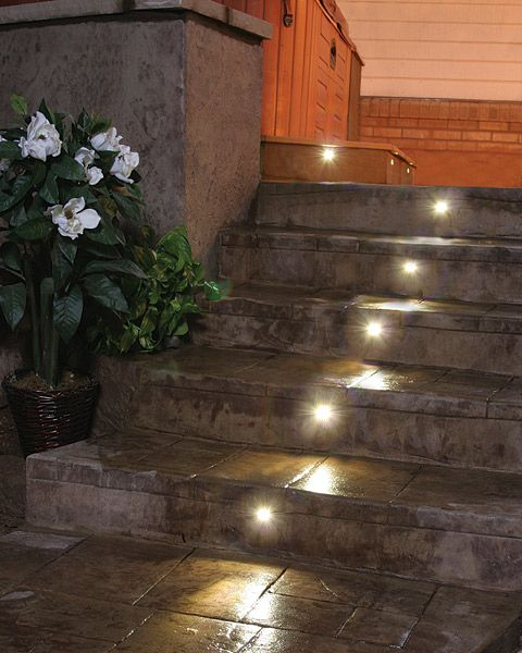 lighting for concrete steps concrete