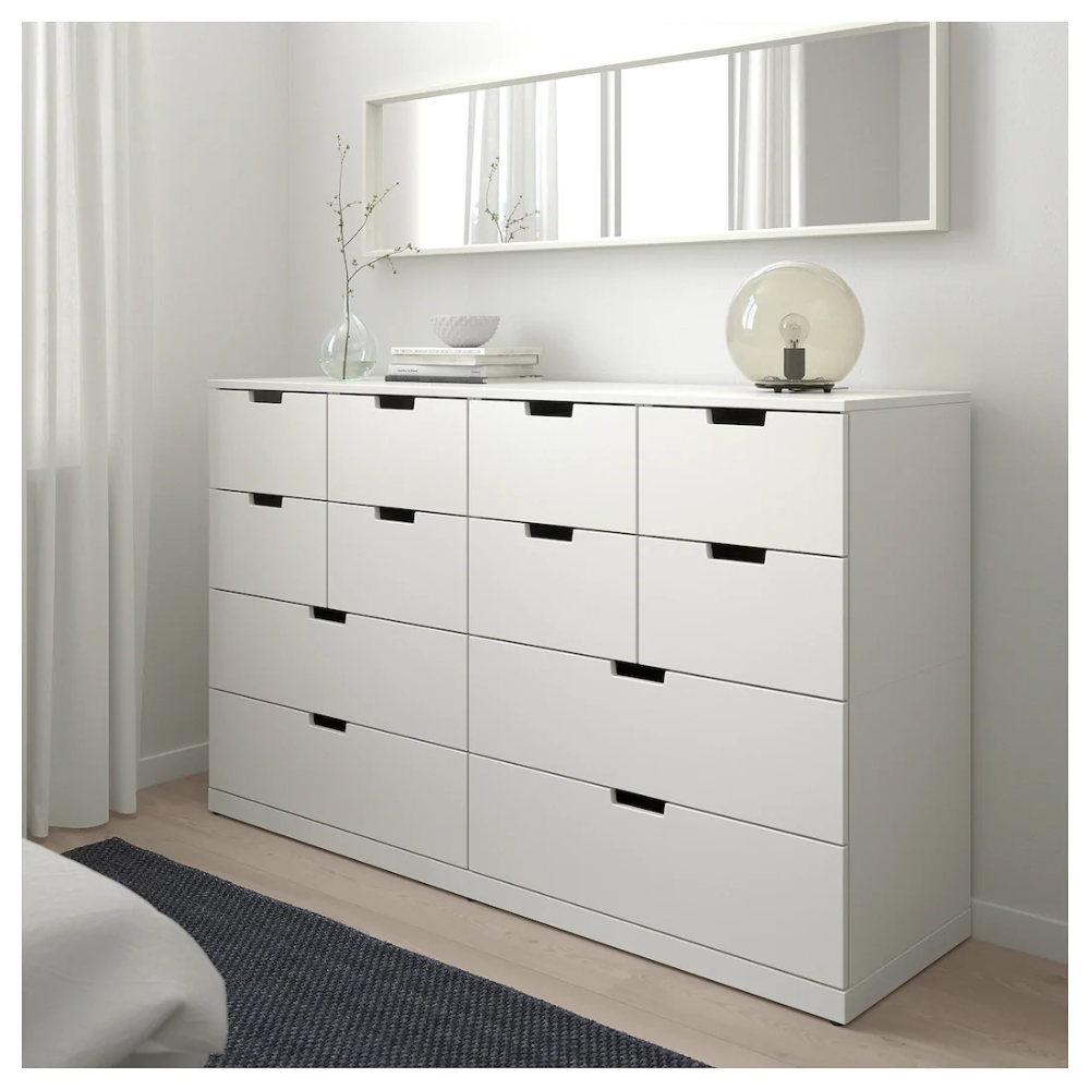 Nordli 12 Drawer Chest White 63x39 Ikea Nordli Chest Of