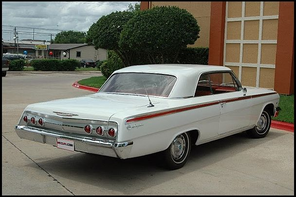 1962 Chevrolet Impala Coupe White Exterior Red Interior