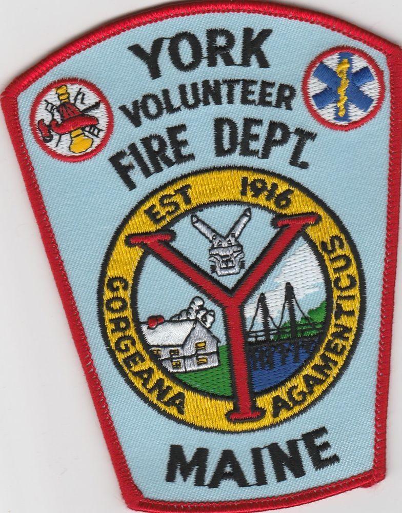 York, Maine Volunteer Fire Dept Patch ME Variation