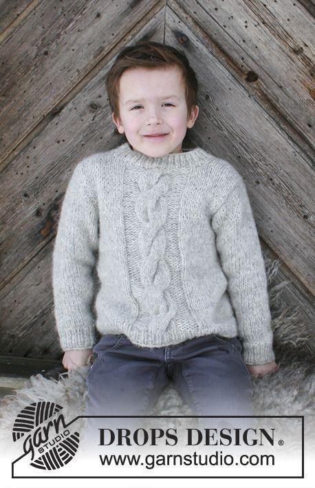 Gestrickter Pullover mit Zopfmuster für Kinder. Größe 2 - 12 Jahre ...