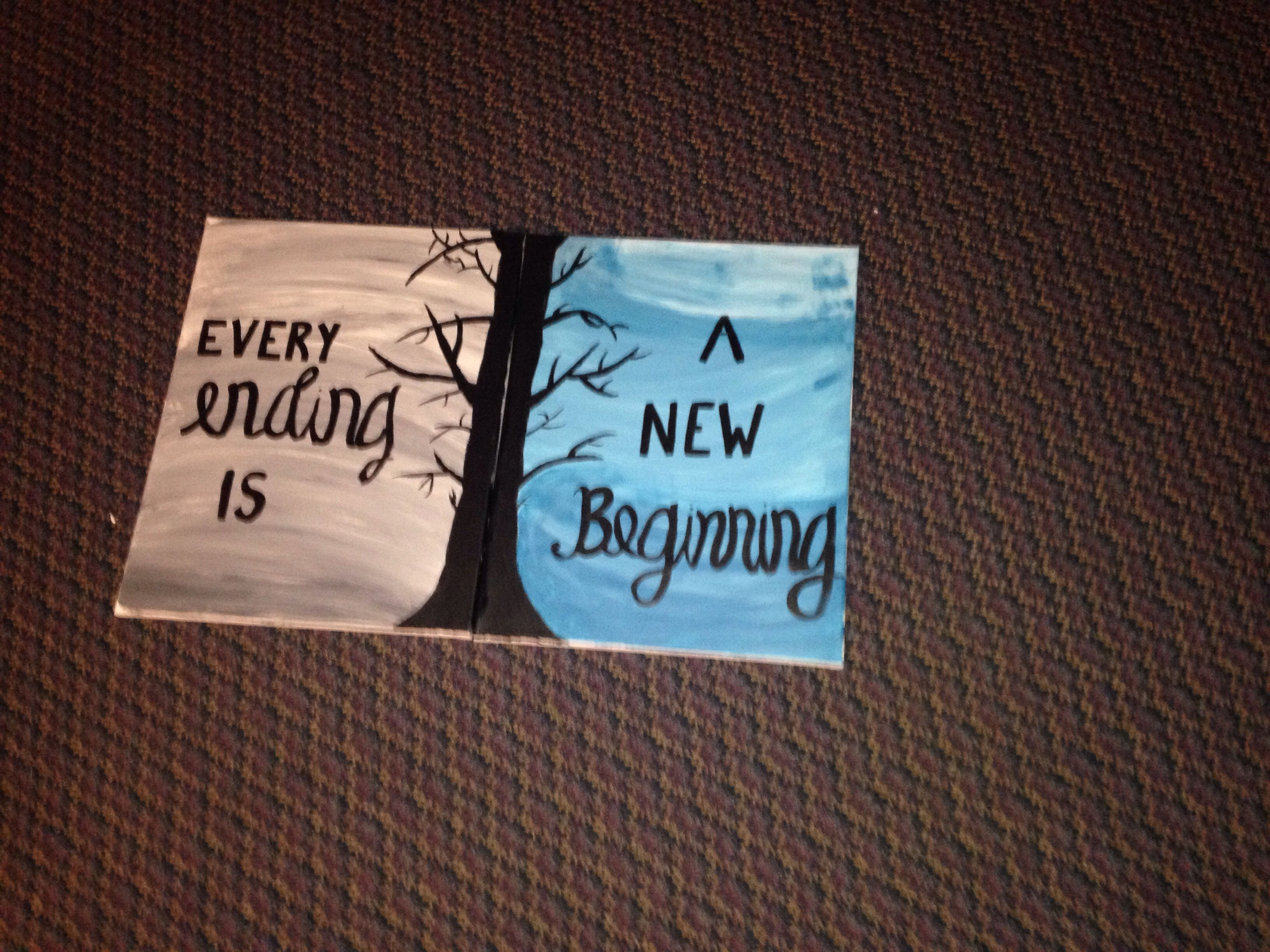 Canvas Painting Every Ending Is A New Beginning Diy Canvas Art