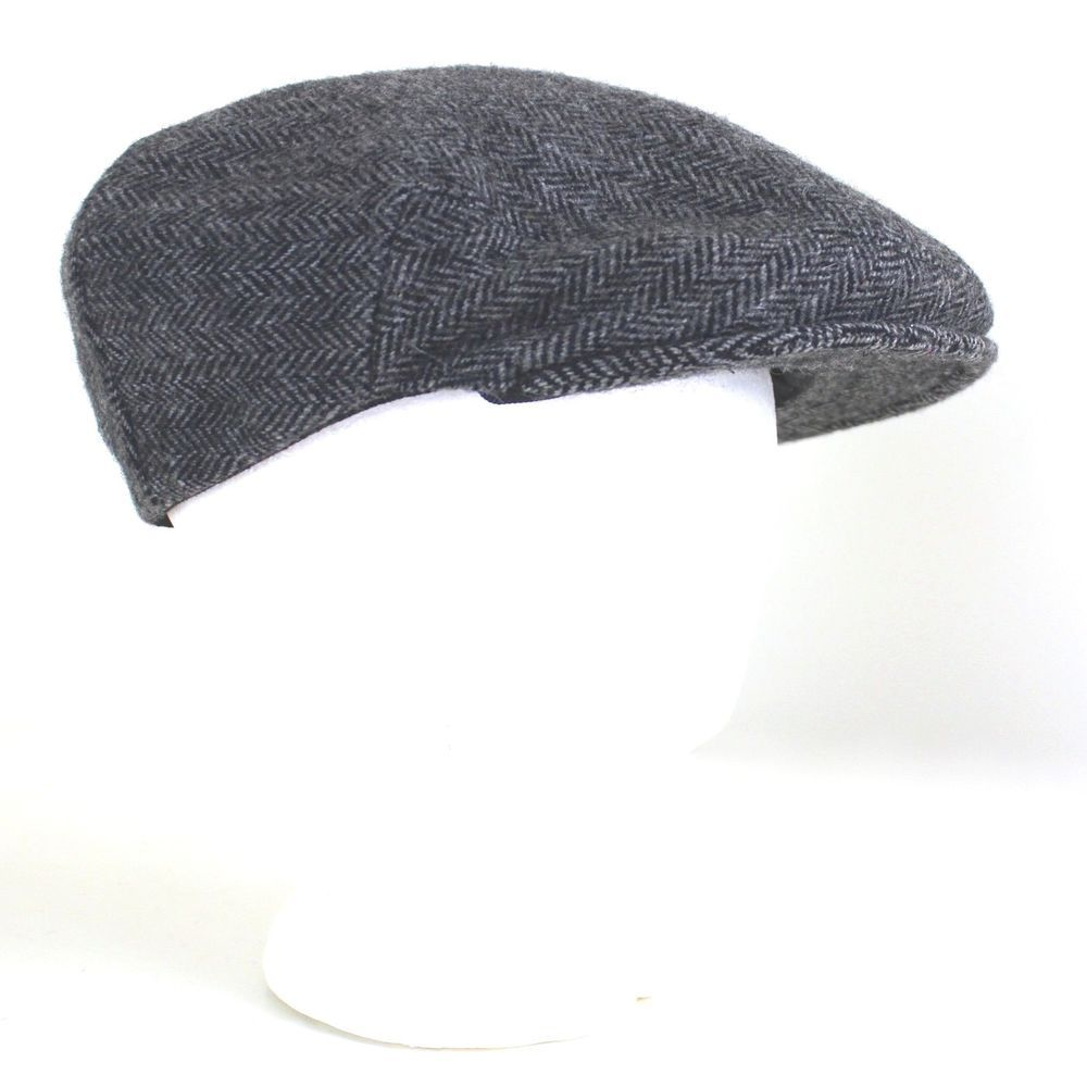 Vintage Shandon Ireland Flat Cap 7.25 Cabbie Hat Wool Black White Zig Zag  Tweed  Shandon  FlatCap fd8c8c84e7a