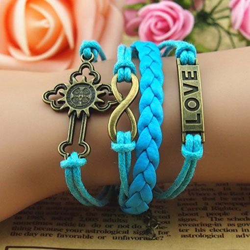 cross,infinity&love bracelet