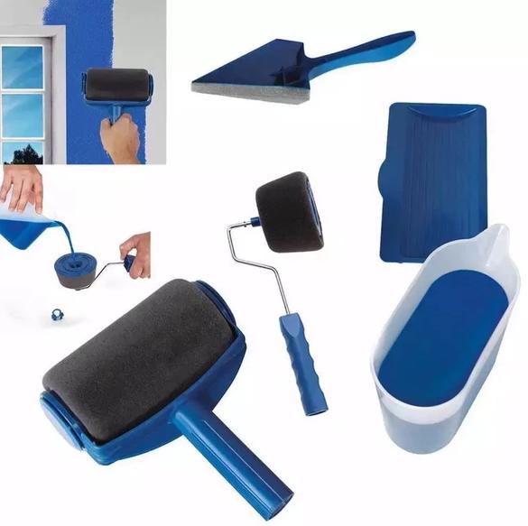 8 Pcs Set Painting Brush Set Paint Roller Roller Brush Paint Runner