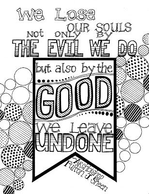 Sheen Quote Coloring Page Quote Coloring Pages Fulton Sheen Coloring Pages