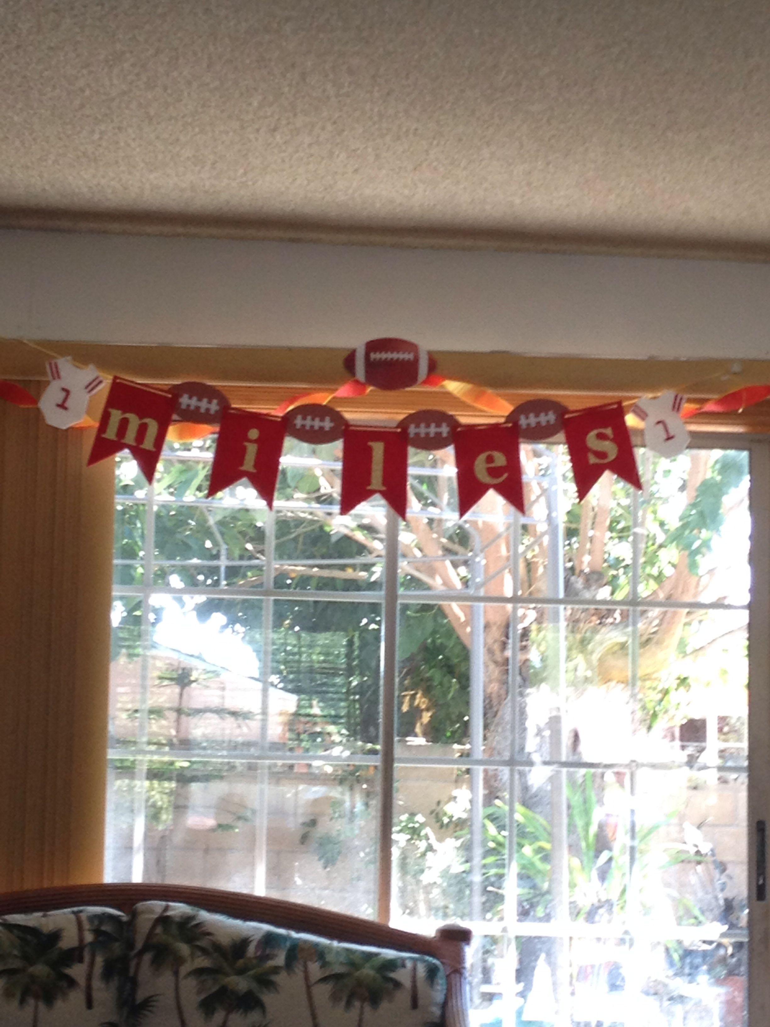 San Francisco 49er themed babyshower banner