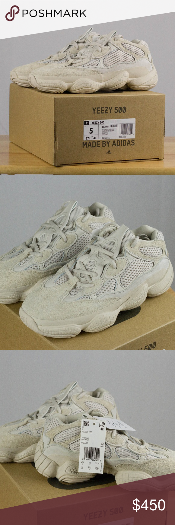 19c50c0bed2 YEEZY ADIDAS DESERT RAT BLUSH  SIZE 5  WOMENS 6.5 DEADSTOCK BRAND NEW IN BOX