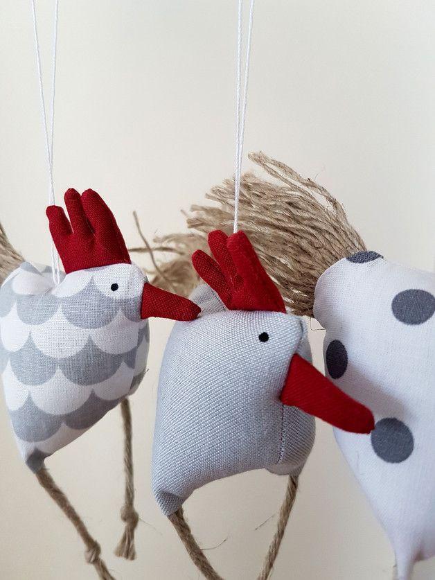 Frühjahrs-Oster-Deko 3 aufgeregte Hühnchen Huhn | Products, Deko ... | {Tischaccessoires 46}