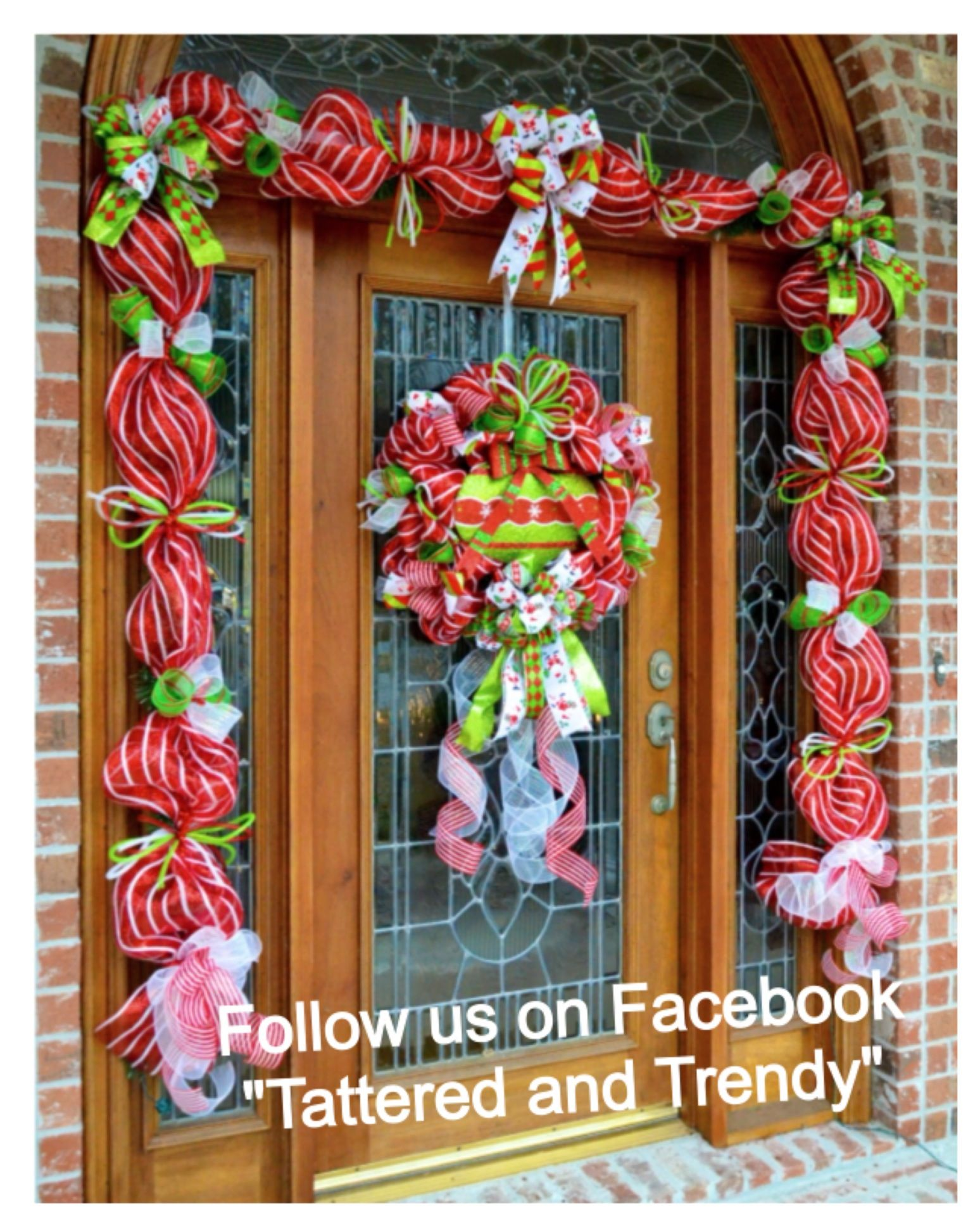 Christmas Deco Mesh Door Decor Wreath Garland Christmas Decor
