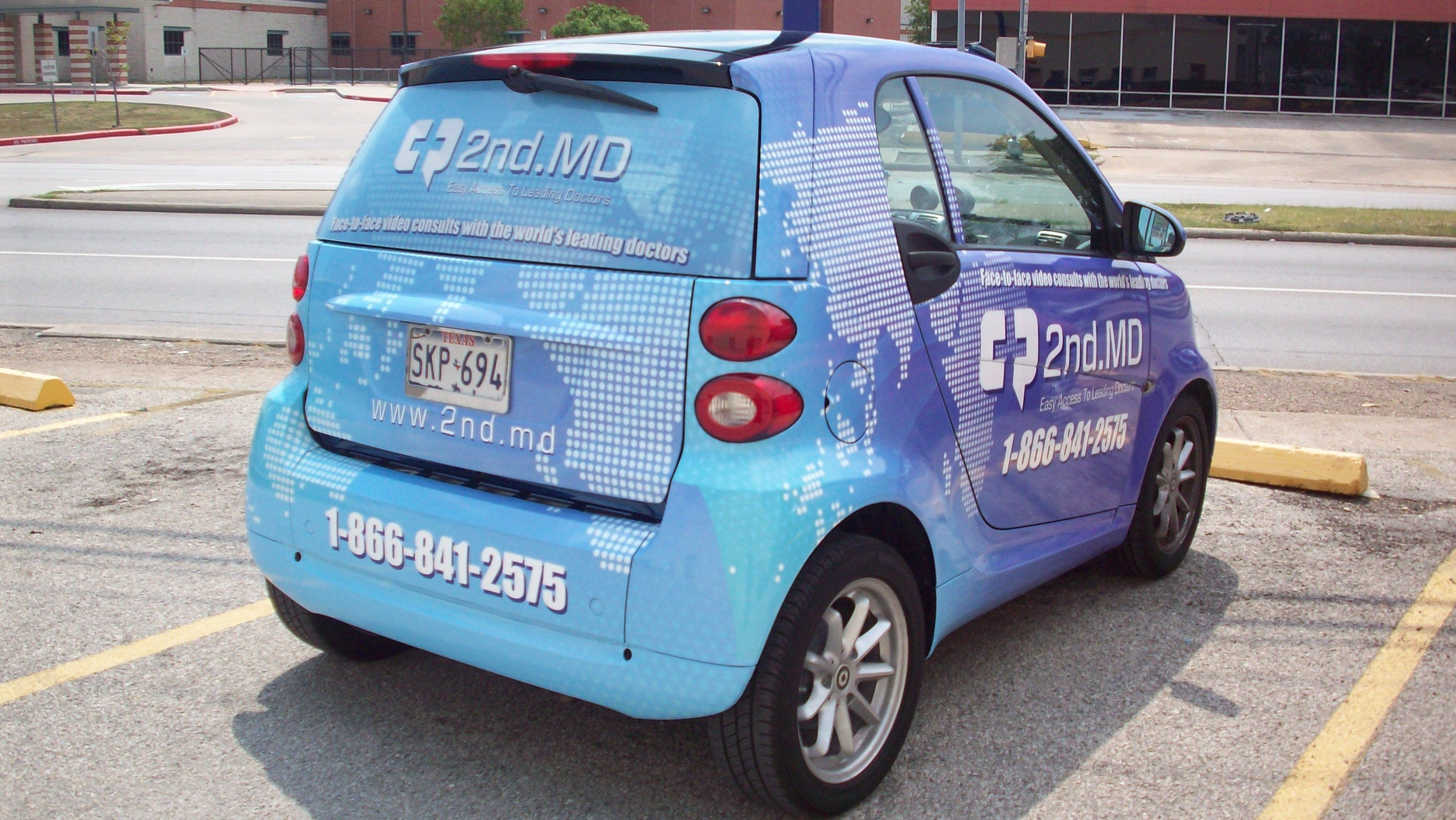 Smart Car wrap for 2nd MD
