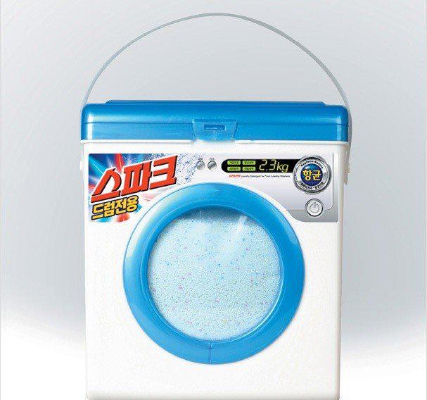 El Arte publicitario del embalaje. Un tambor de jabón muy original...