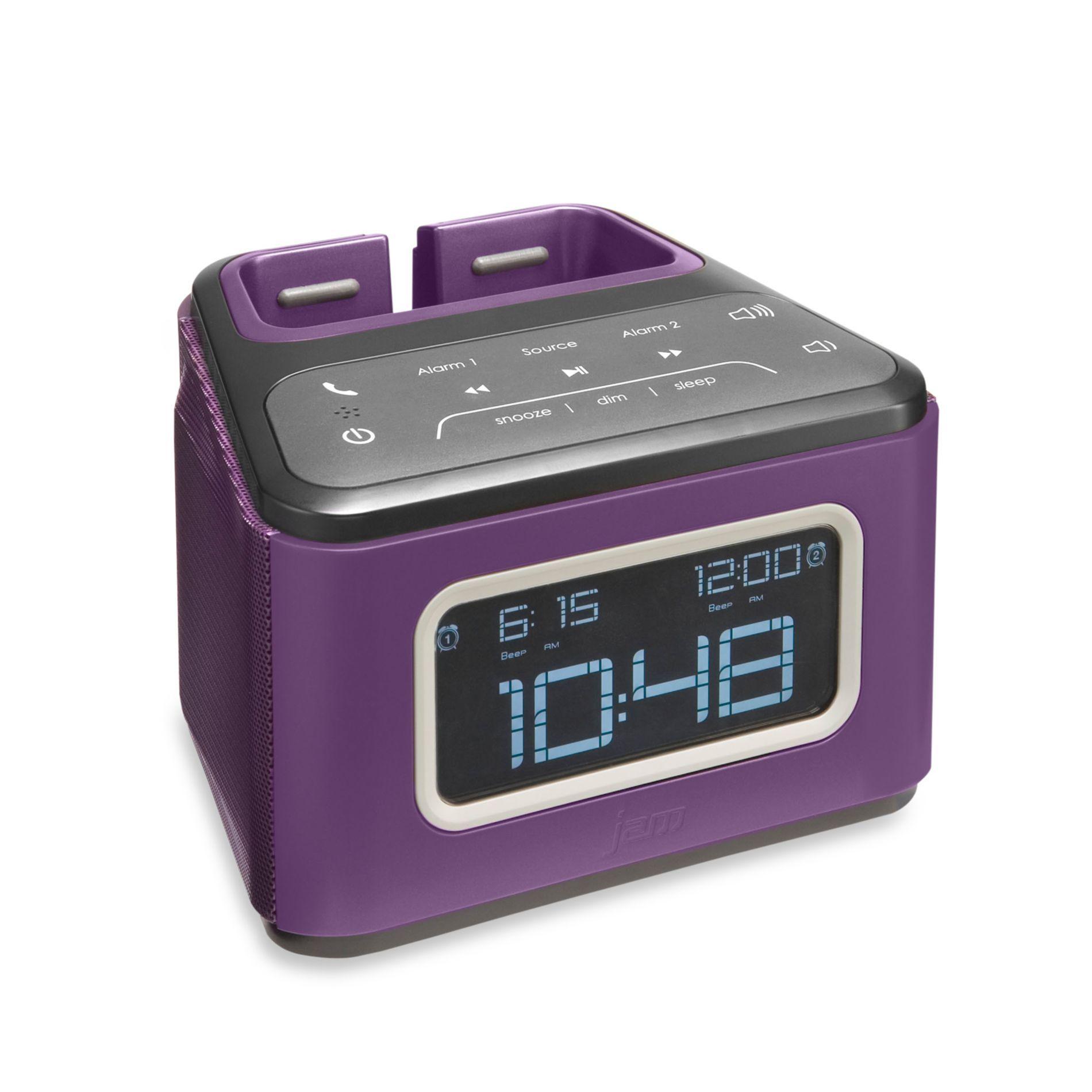 Bluetooth Alarm Clock In Purple
