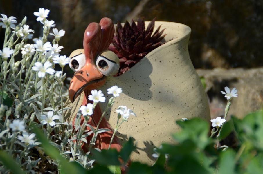 Gartenkeramik keramik gleichauf keramik in 2019 keramik t pfern ideen und gartenkeramik - Gartenskulpturen selbstgemacht ...