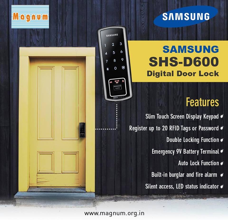A Digital Door Lock Is A Much More Reliable Opening Mechanism Of A Standard Lock Because It Presents The Bar Digital Door Lock Door Locks Electronic Door Locks