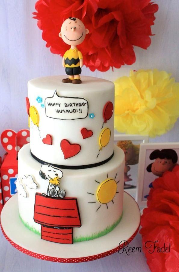 SnoopyCharlie Brown cake Cake by ReemFadelCakes Woodstock