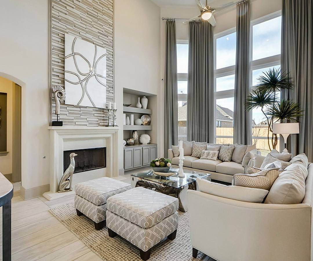 Newhome Ideas Interior: Stunning 2 Story Great Room By Erin Paige Designs