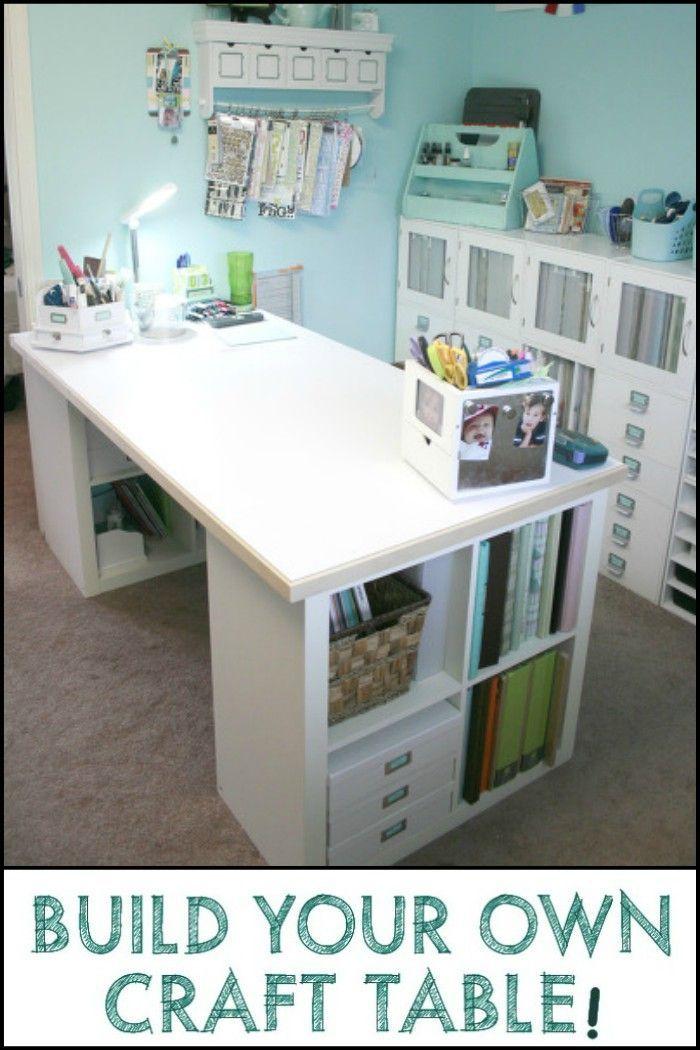 So Bauen Sie Ihren Eigenen Craft Table Bauen Craft Eigenen Ihren Table Craft Room Tables Sewing Room Design Craft Tables With Storage