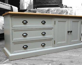 Pintado reciclado shabby chic tv mueble aparador por opwoodcraft1 otros pinterest - Shabby chic muebles ...