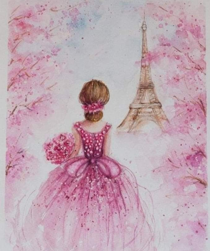 Pin By Sonia Paredes On 15 Anos Romantic Wall Art Eiffel Tower Painting Fashion Wall Decor