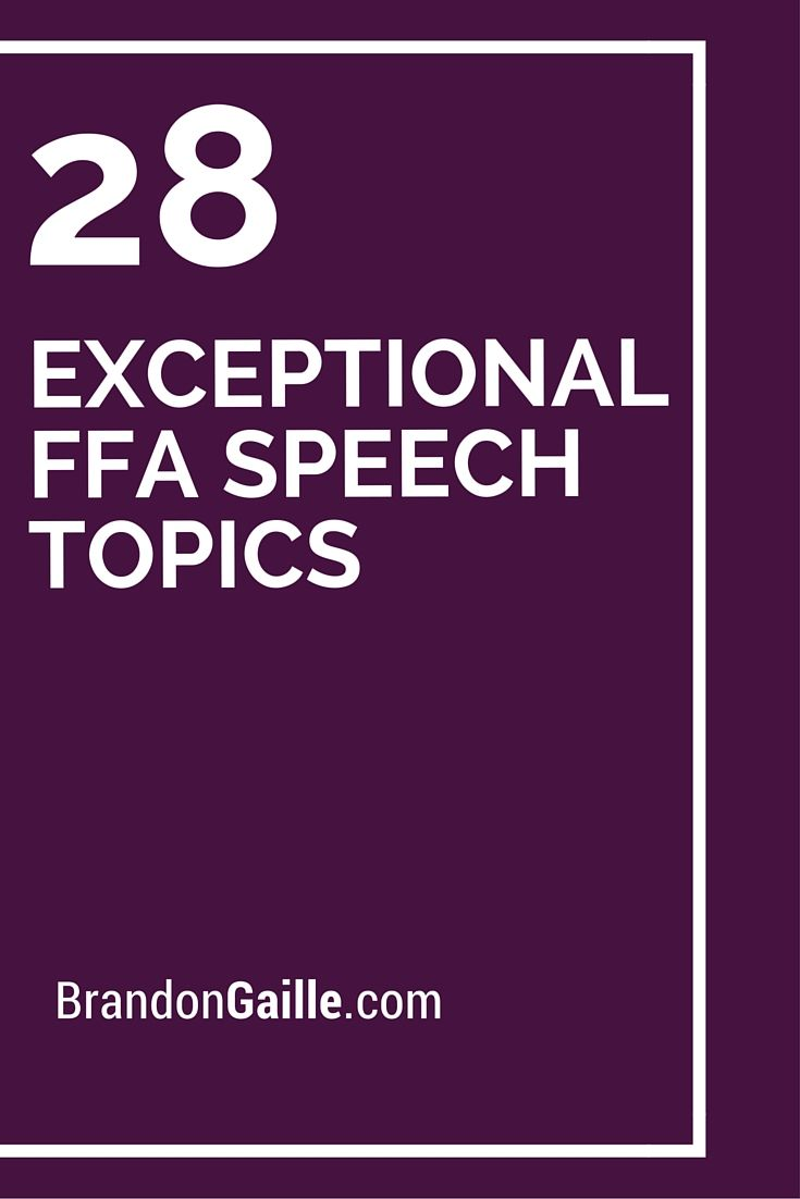 best topics for speech competition