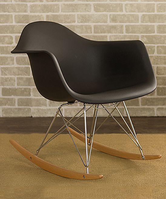 Amazing Black Dario Mid Century Modern Rocking Chair Rocking Chair Forskolin Free Trial Chair Design Images Forskolin Free Trialorg