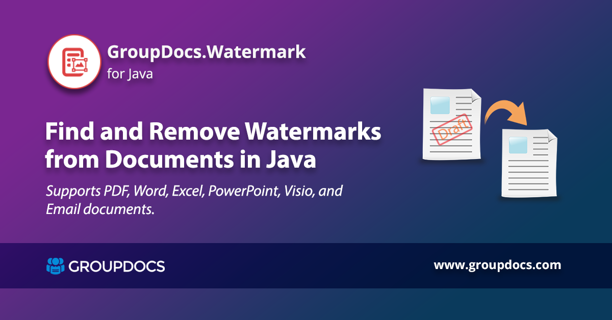 Find And Remove Text Or Image Watermark From Documents In Java How To Remove Documents Words