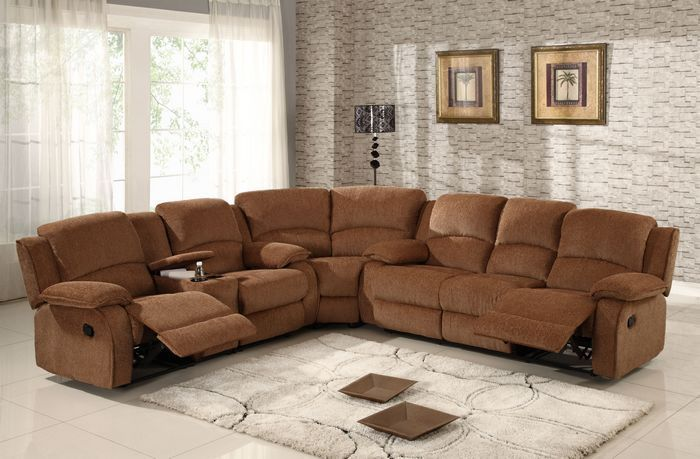 Windsor Microfiber Reclining Sectional 3619 With Images