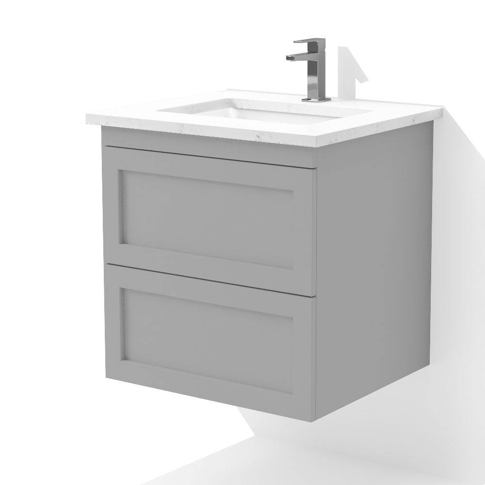 24 Single Floating Vanity Dmv2402 Shaker Collection Dm Bath