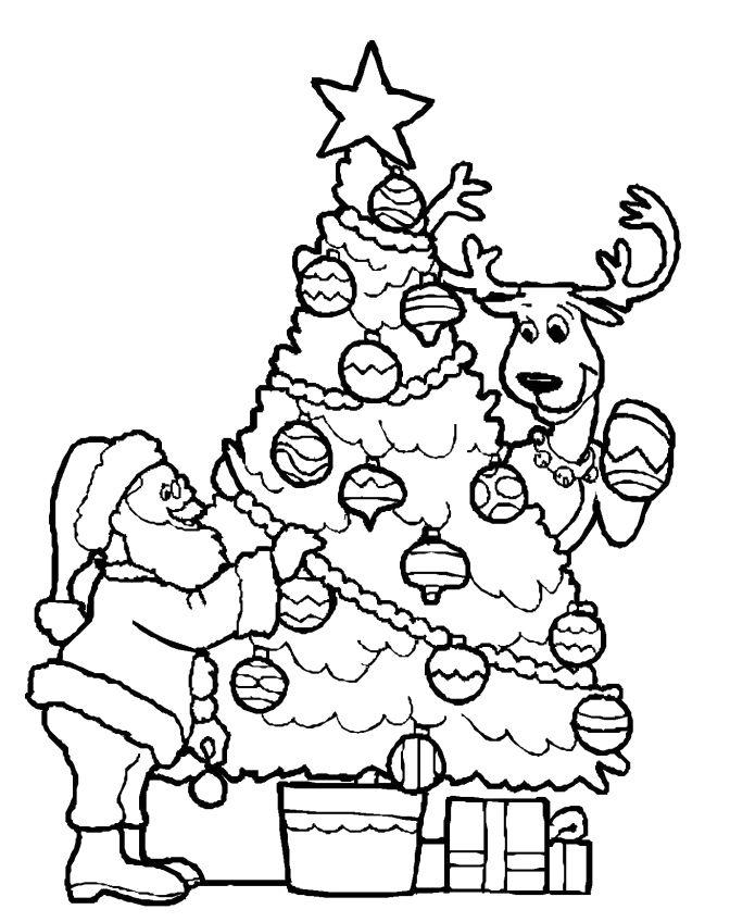 Decorating A Christmas Tree Coloring Pages Paginas Para Colorear De Navidad Hojas De Navidad Para Colorear Arbol De Navidad Para Colorear
