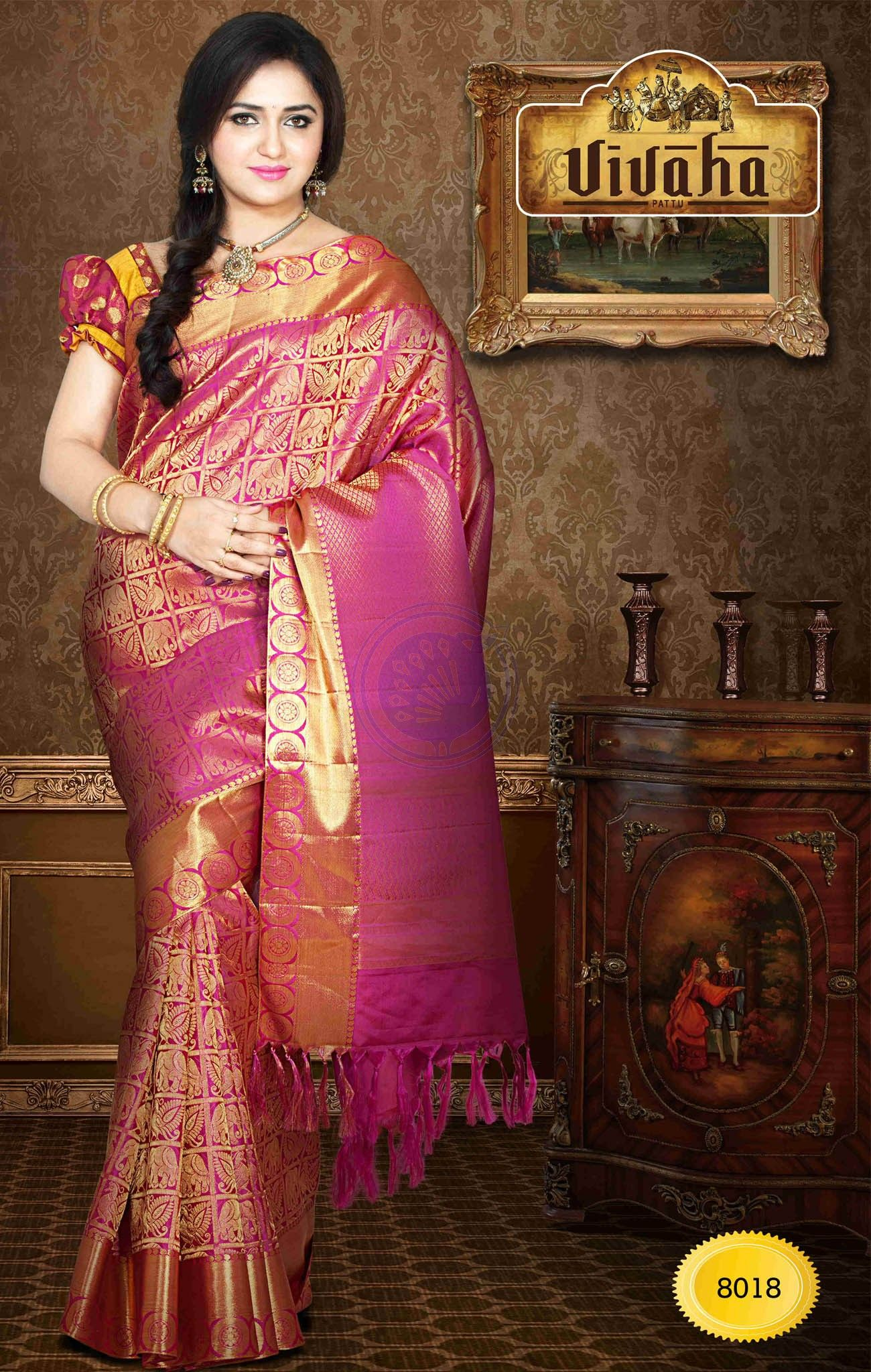 77118c1b83 Exclusive Vivaha Bridal Silk VBBS8018. Pure Handloom Silk Saree ...