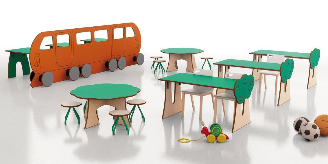 Colección para espacios educativos infantiles Dreams , diseñado por Aitor G. de Vicuña y fabricado por Tagar.