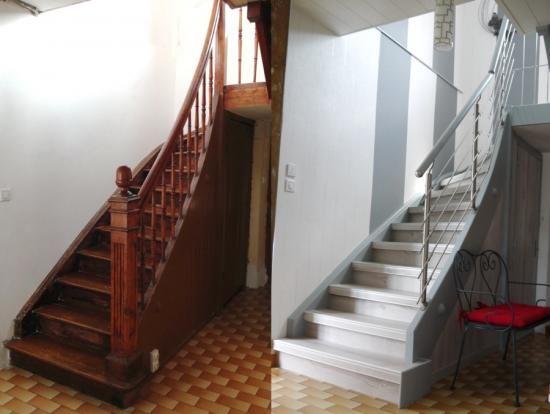 Rénovation Du0027un Escalier Bois Par Habillage Avec Rampe ...