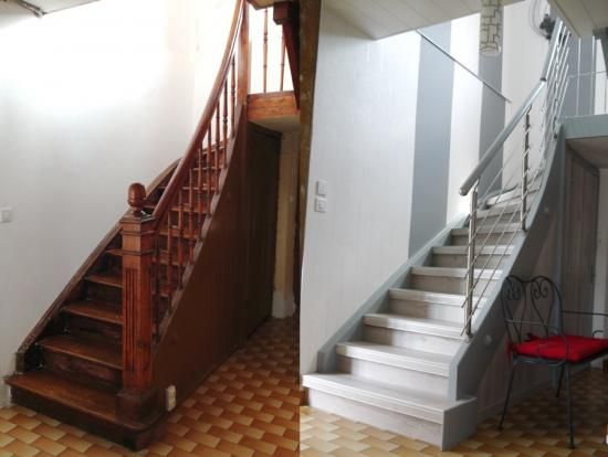 Rnovation DUn Escalier Bois Par Habillage Avec Rampe Inox