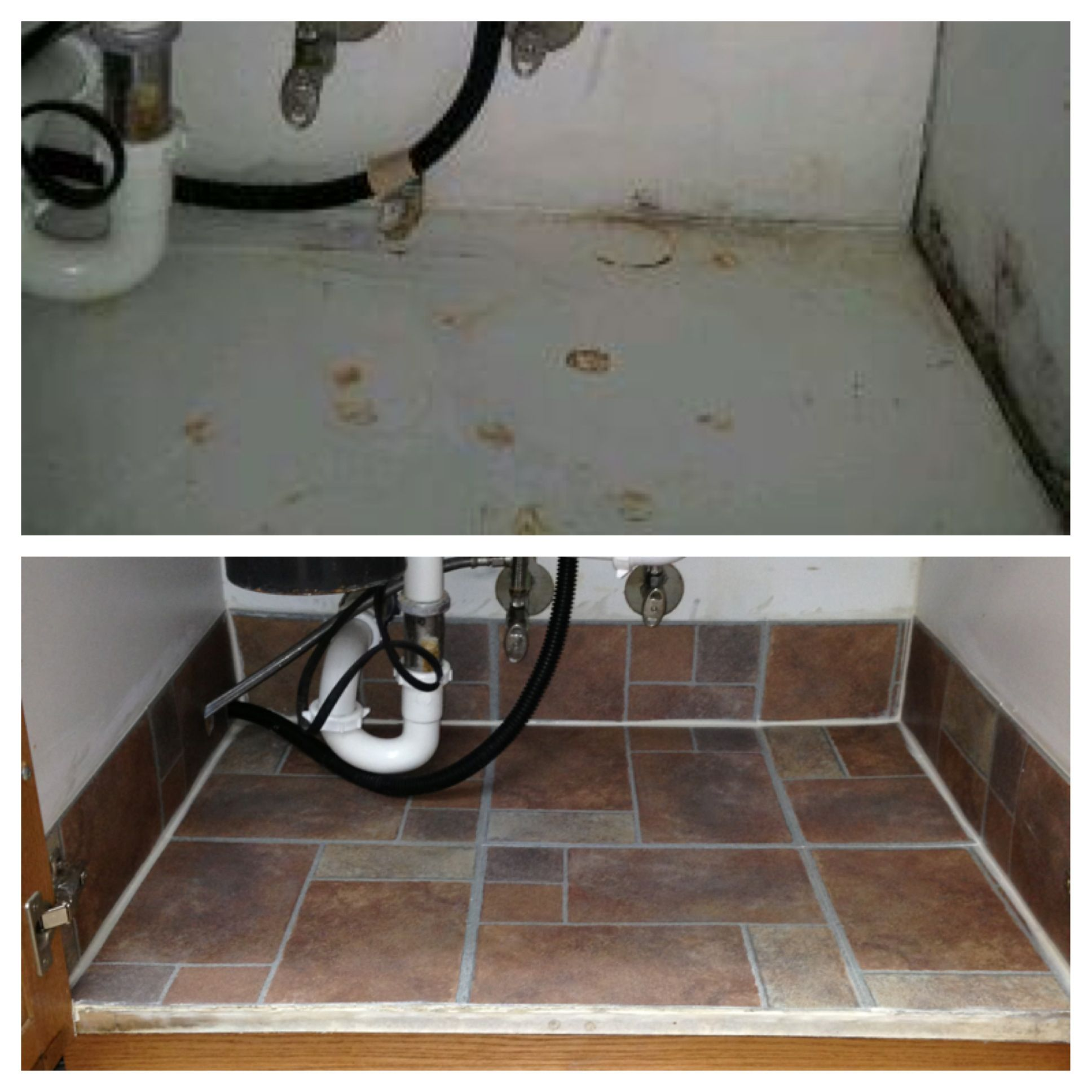 Under Sink Kitchen Cabinet Mat Drip Tray My Under The Sink Makeover Crafts A La Mode Board Pictures