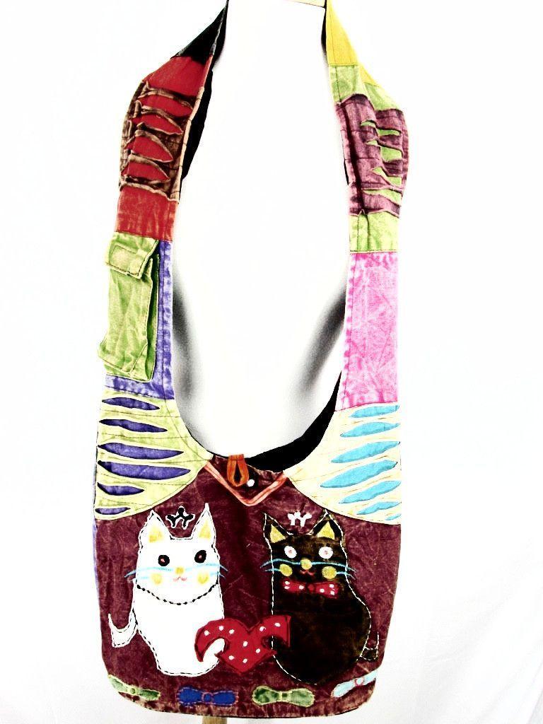 Cats - Multi-Colored HoBo Bag