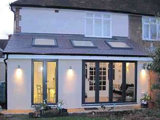 Attractive Rear Single Storey Extension Ideas   Lights Outside