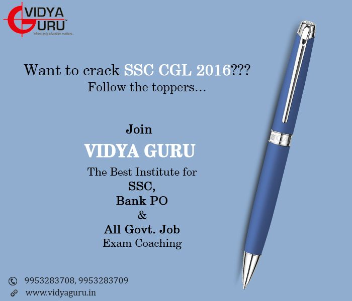 As SSC CGL Exam Notification is out, submit your applications early and start preparing for SSC exam with us. Join #VidyaGuru institute to get best coaching for cracking exam this year! To Enrol yourself visit: www.vidyaguru.in or call us at: 9953283708. #VidyaGuru #SSC #CoachingInstitute #BestInstitute