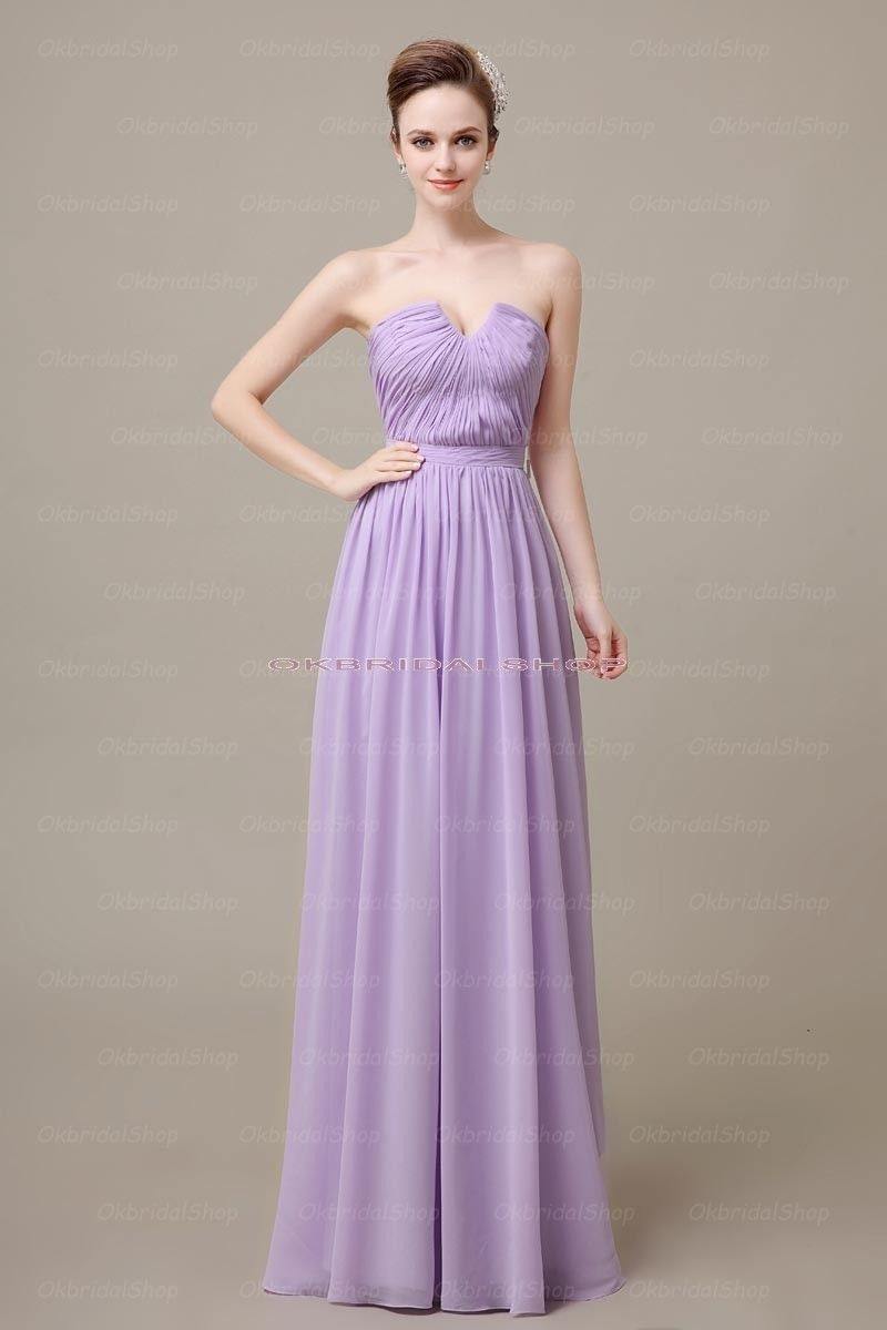 Lilac bridesmaid dresses long bridesmaid dress chiffon in lilac