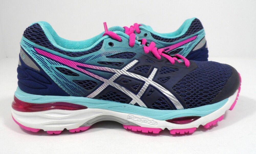 Asics Women S Gel Cumulus 18 Running Shoe Indigo Blue Silver Pink Glow 12 M New Asics Runningshoes Asics Women Gel Asics Women Asics
