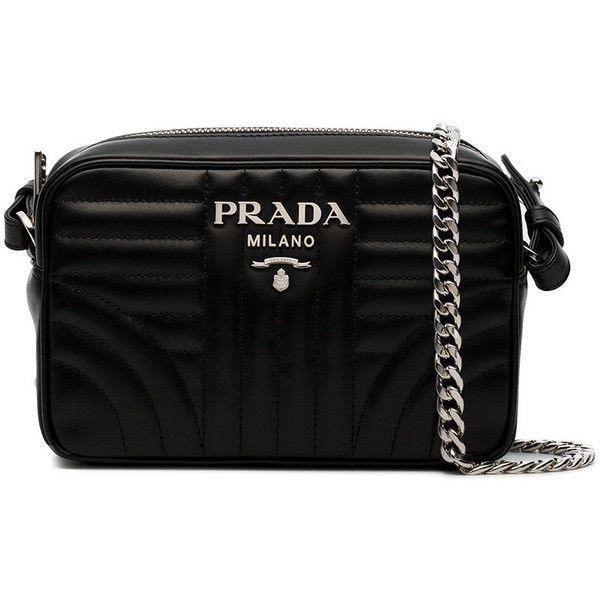 f58f8d2d8eac Prada Diagram cross-body bag (330 KWD) ❤ liked on Polyvore featuring bags,  handbags, shoulder bags, black, prada handbags, quilted handbags, prada  shoulder ...