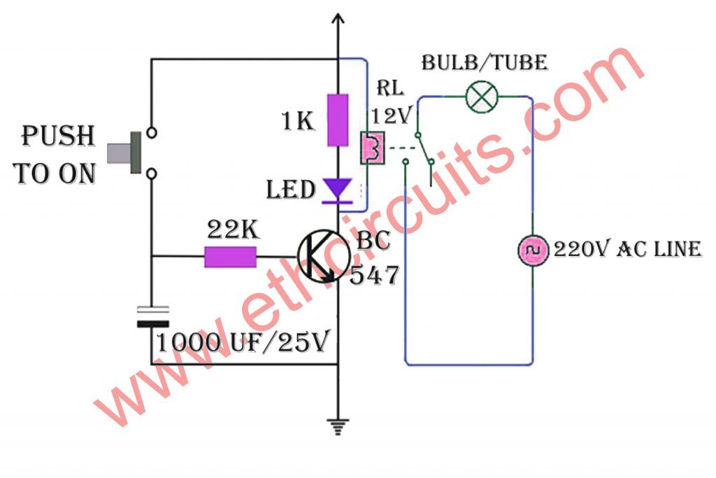 Automatic Stair Light Circuit Diagram in 2020   Circuit diagram, Stair  lights, LightsPinterest