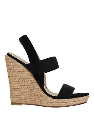 Jean-Michel Cazabat Suede Platform Wedge Sandals clearance fashionable fb3uS
