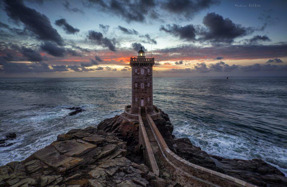 Le phare de Kermorvan, Le Conquet, Finistère,Bretagne, France