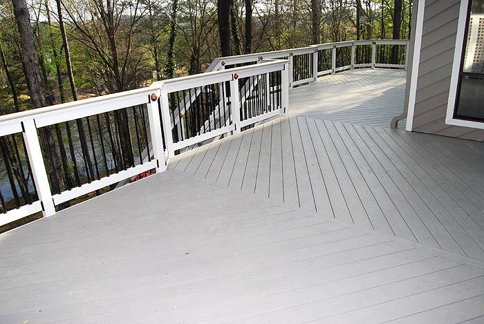 Azek Procell Slate Gray Decking With Low Voltage Lighting Deck Carport Designs Decks And Porches