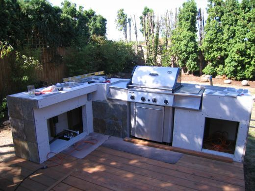 How To Build An Outdoor Kitchen And Bbq Island Build Outdoor Kitchen Backyard Kitchen Outdoor Kitchen