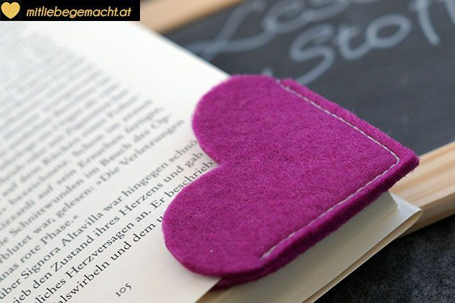 Last Minute Geschenke: Lesezeichen nähen | ♥ Mit Liebe gemacht