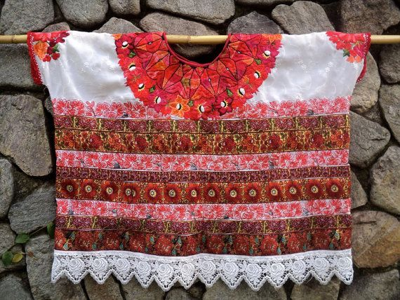 Authentic Guatemalan Huipil from AGUACATAN, Mayan Embroidered Blouse ...