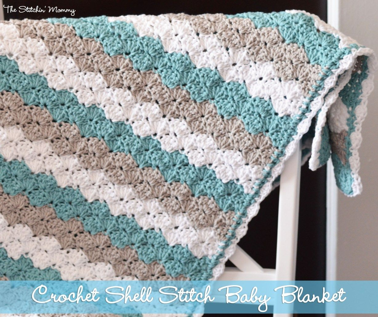 Shell stitch baby blanket free pattern crochet shell stitch crochet shell stitch baby blanket by the stitchin mommy thestitchinmommy bankloansurffo Choice Image
