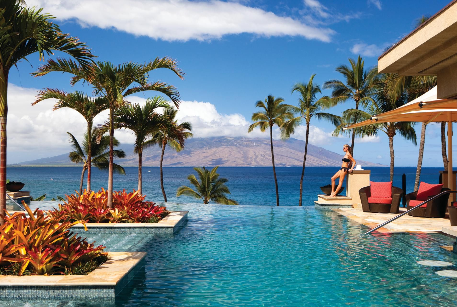 Fancy tropical swimming pool widescreen hd wallpaper for for Tropical pools